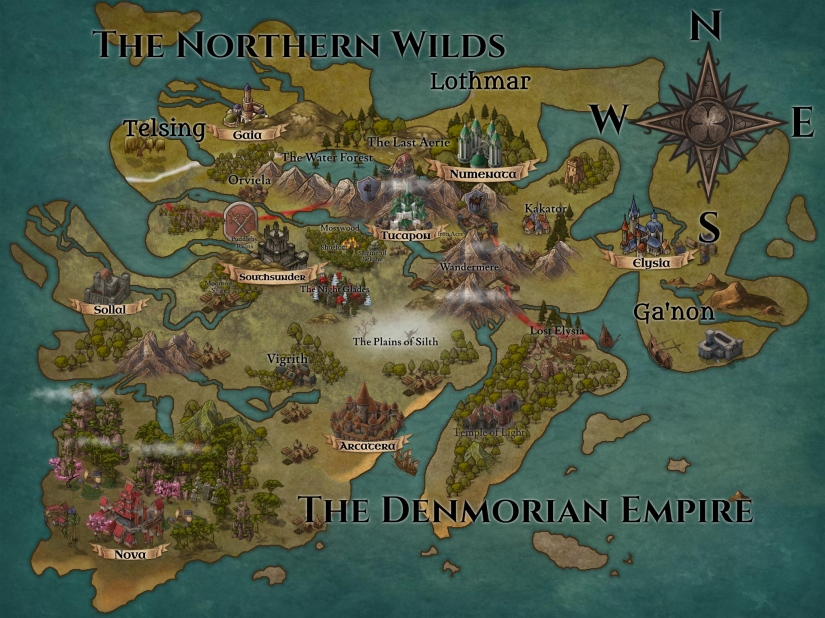 Map of Denmoria - updated mar 2020